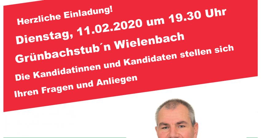 Plakat wir für Wielenbach Vorstellung