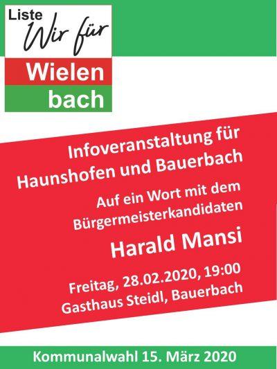 Infoabend für Haunshofen und Bauerbach
